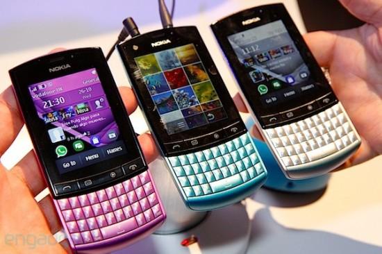 """Asha de """"smartphone"""" con el modelo 303, con pantalla táctil y"""