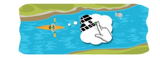 Google y el nuevo Doodle aguas bravas sobre las Olimpiadas 2012