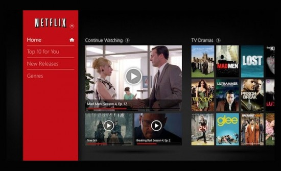 Netflix para Windows 8
