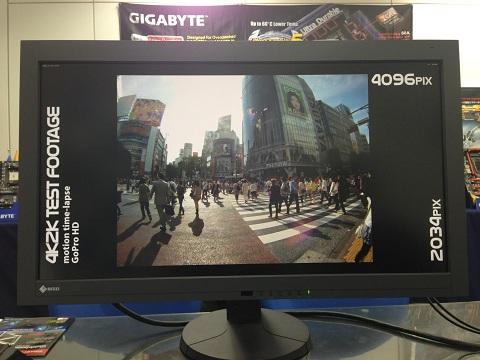 Gigabyte como rinde su conexión Thunderbolt con monitores 4k