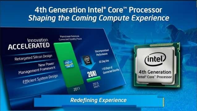 Intel Core de 4ta Generacion.