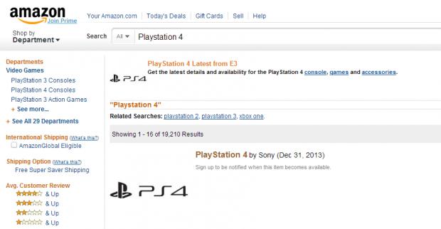 PS4 confirmada 31diciembre por amazon