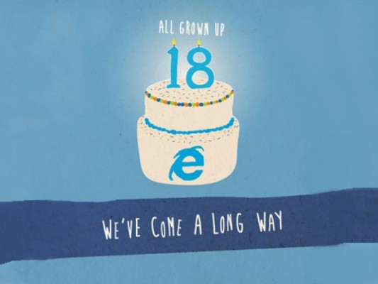Internet Explorer cumple 18 años