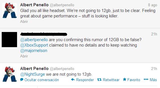 Rumor 12GB Xbox One desmentido