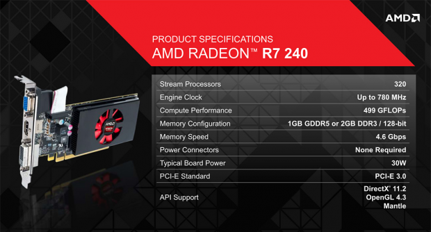 Especificaciones AMD R7-240