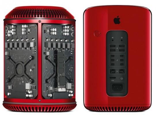 Mac Pro en color rojo