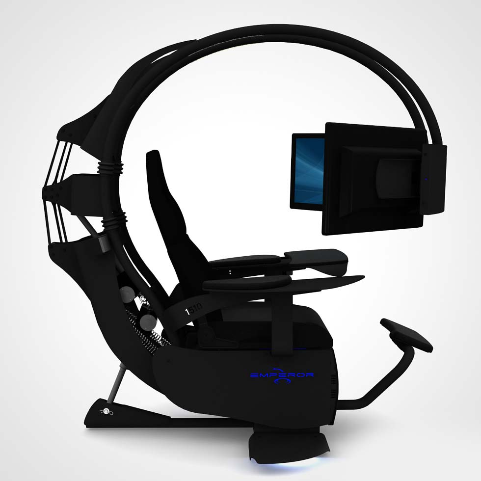 Emperor chair 1510 la silla gamer definitiva hd tecnolog a for Silla gaming con altavoces