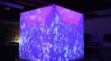 Un Cubo controlado por Kinect