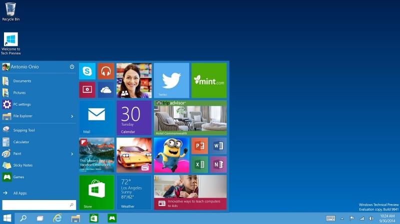 Windows 10 Preview esta siendo usado por 1,5 millones