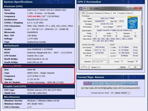 ADATA XPG Z1 DDR4-3333 obtiene un récord de Overclocking, 4255 MHz-2