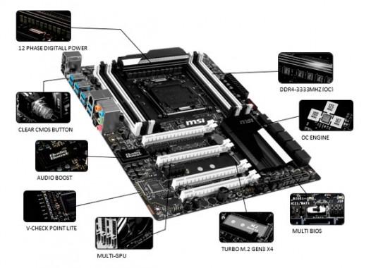 MSI lanza su nueva placa madre X99S SLI Krait Edition en blanco y negro-2