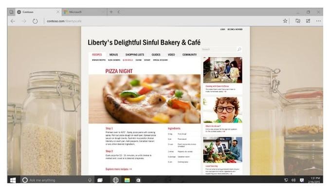 Spartan es el nuevo navegador web de Microsoft