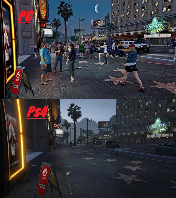 GTA V PC vs PS4, comparación gráfica-3