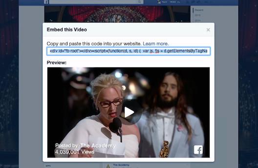 Incrustar vídeos de Facebook en los sitios web ahora es muy fácil-2