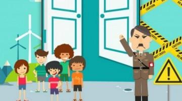 Una promoción de un teléfono Android dice que Apple es Hitler