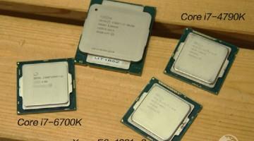 Intel I7 6700k vs i7 4790k vs i7 5820k