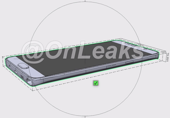 Samsung Galaxy Note 5, un render se filtra con algunos detalles