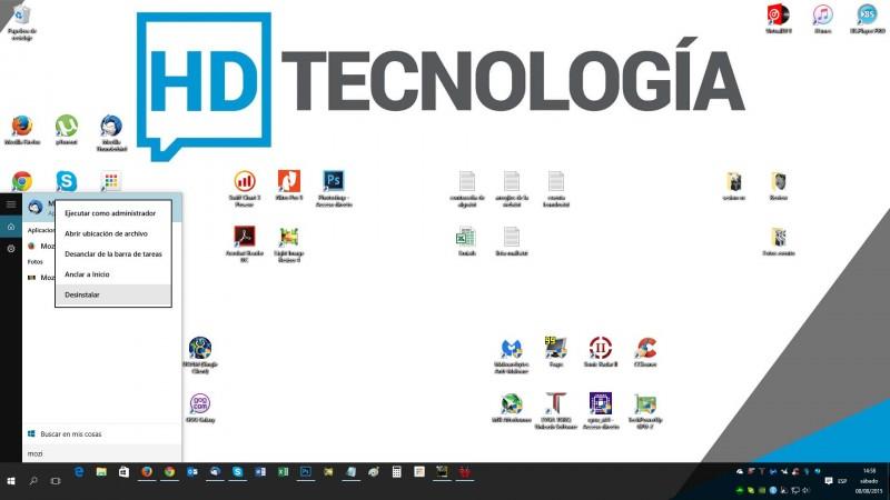 Aprende a desinstalar aplicaciones rápidamente en Windows 10-2