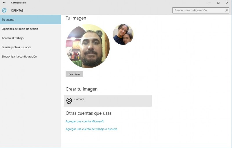 Cambiar la foto del perfil en Windows 10-4