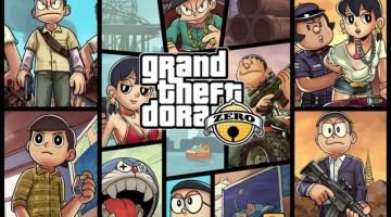 Grand Theft Auto representado a lo Doraemon