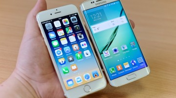 Galaxy S6 y iPhone 6 Plus