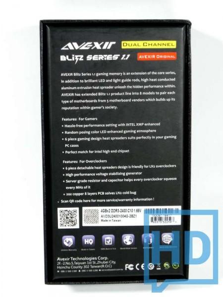 Avexir Blitz 1.1 DDR3 2400-2