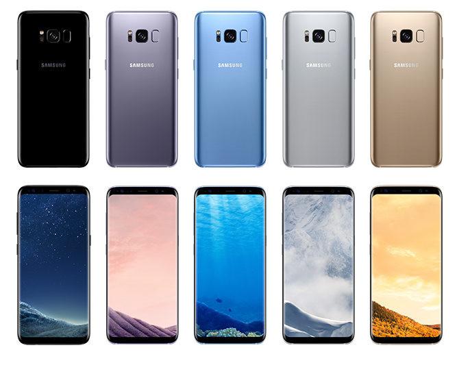telefonos galaxy s8 y galaxy s8 plus