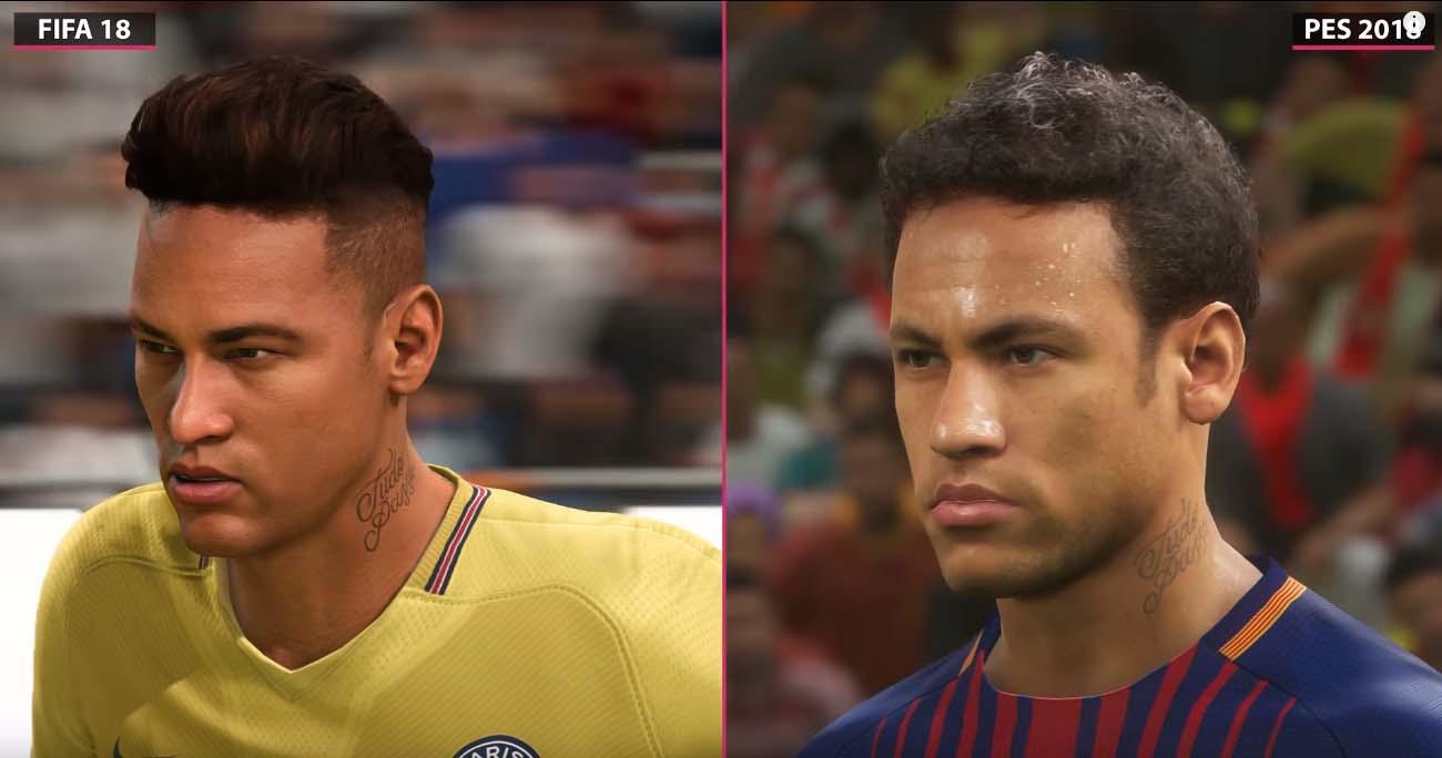 PES 2018 VS FIFA 18 en 4K