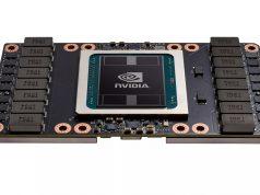 El chip Nvidia GV100, el cual podría renovarse a 7nm para menor consumo.