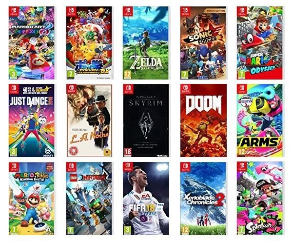 Algunos de los títulos disponibles en Switch.