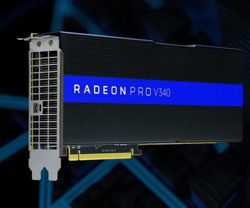 La nueva AMD Radeon Pro V340 con doble núcleo Vega 10.