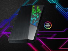 Los nuevos discos rígidos externos FX series con iluminación RGB de Asus.