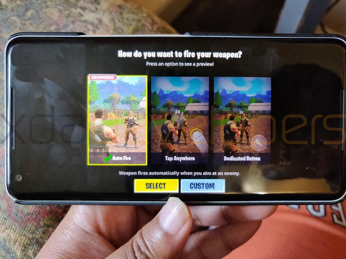 Fortnite para Android corriendo en un Pixel 2 XL.