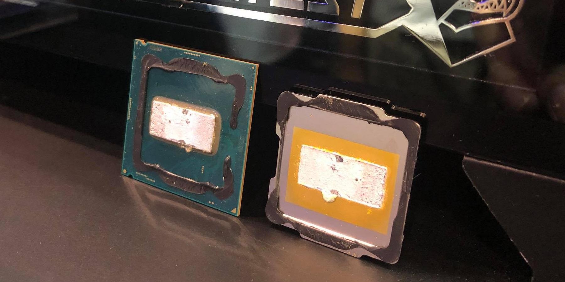Así se ve el Intel Core i9-9900K con delid.