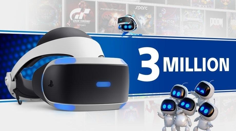 Así anunció Sony la venta de más de 3 millones de PlayStation VR.