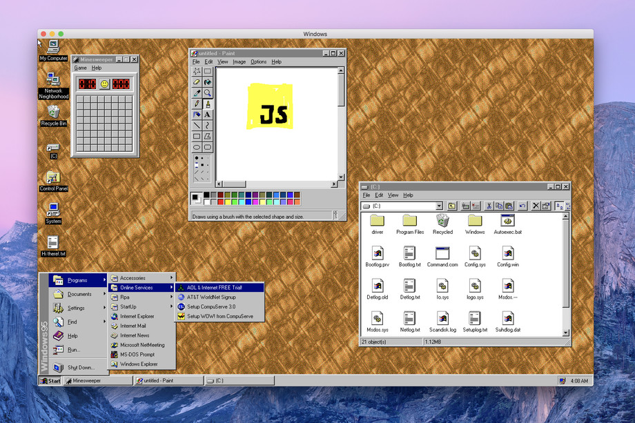 Windows 95 para macOS, Windows y Linux