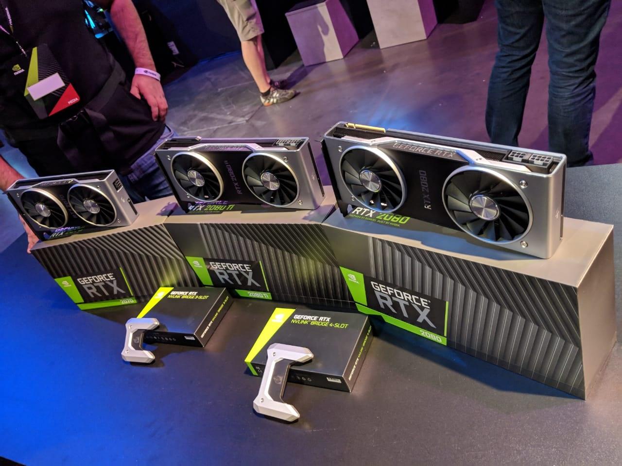 Las nuevas Nvidia GeForce RTX 2000 basadas en Turing.