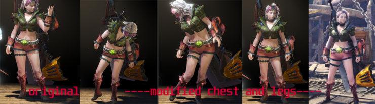 Así se ven las modificaciones de este mod de Monster Hunter World.