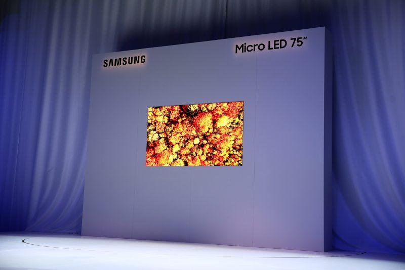 Samsung presenta lo último en pantallas con tecnología MicroLED modular