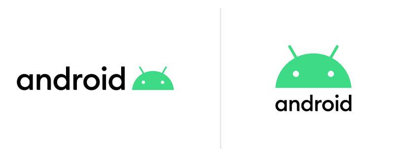 Los nuevos logos que se utilizarán desde Android 10.