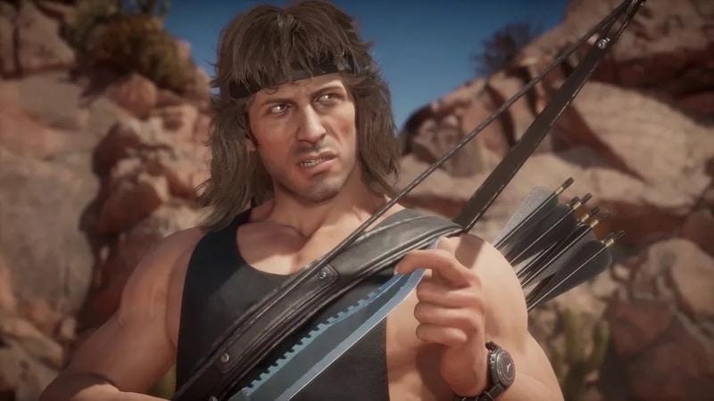 Rambo en Mortal Kombat 11 se deja ver con un espectacular gameplay