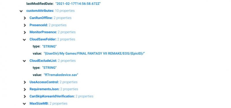El listado que muestra la llegada de Final Fantasy VII REMAKE a la Epic Games Store.